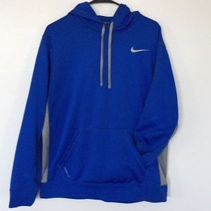 Nike Men's Thermo-Fit Blue/Gray Performance Hoodie